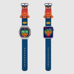 MR TIME 위글위글 콜라보 스마트 시계줄 Bear 갤럭시워치4