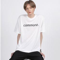 [당일발송] 커먼즈 남녀공용 베이직 세미 오버핏 티셔츠-화이트