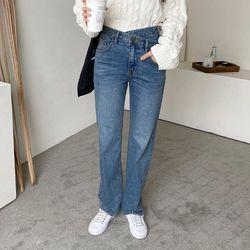 [무료배송] Paris Unbal Wrap Straight Jeans