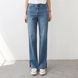 [무료배송] Louis Slit Straight Jeans