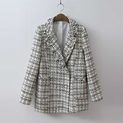 Tweed Double Pearl Button Jacket