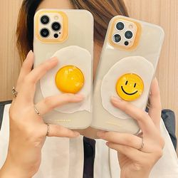 아이폰 x max se2 7 8 스마일 계란 입체 젤리 케이스