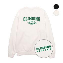Climbing 오버핏 풀기모 맨투맨 (VNCTS406) 2칼라