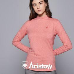 아리스토우 여자 기모 티셔츠 긴팔티 여성 핑크