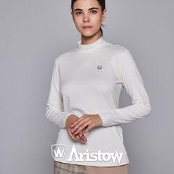 아리스토우 여자 기모 티셔츠 긴팔티 여성 아이보리