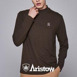 아리스토우 남자 기모 티셔츠 긴팔티 남성 카키