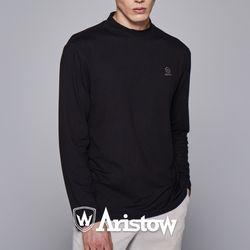아리스토우 남자 기모 티셔츠 긴팔티 남성 블랙