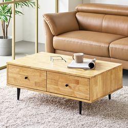 조엔 원목 1000 거실 소파테이블(고무나무)