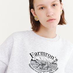 FARMRONS SWEATSHIRT WHITE MELANGE