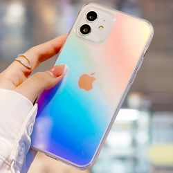 아이폰 xr xs max se2 7 8 홀로그램 투명 젤리 케이스