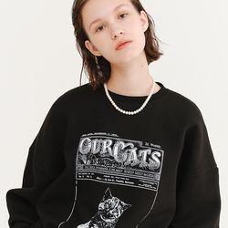 OUR CATS SWEATSHIRT BLACK