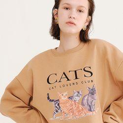 CATS SWEATSHIRT BEIGE