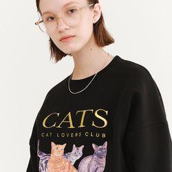 CATS SWEATSHIRT BLACK