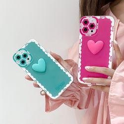 아이폰 xr max se2 7 8 하트 디자인 입체 젤리 케이스