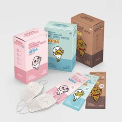 카카오프렌즈 페이스V마스크 어린이소형마스크(KF94)