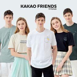 카카오프렌즈 남여공용 패밀리 티셔츠