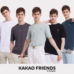 카카오프렌즈 남자 베이직 티셔츠 5종 세트 남성 티셔츠