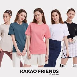 카카오프렌즈 여성 베이직 티셔츠 5종 세트