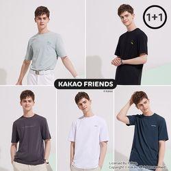 카카오프렌즈 남자 베이직 티셔츠 남성 티셔츠 택 2