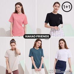 카카오프렌즈 여성 베이직 티셔츠 택 2