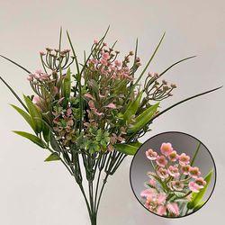 물망초 미니부쉬 조화 인테리어꽃