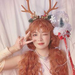 루돌프 사슴 뿔 머리띠 파티 크리스마스