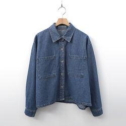 Jules Denim Crop Shirts