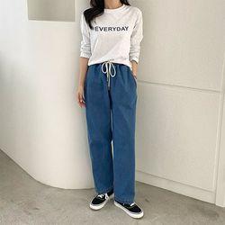 [무료배송] Day Banding Wide Jeans