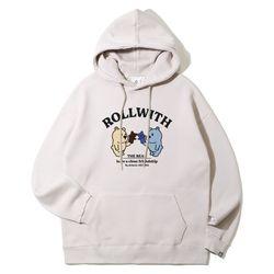 앨빈클로 ROLLWITH 곰돌이 오버핏 후드티 AVH954 (4 COLOR)