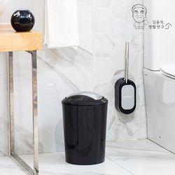 (2개입)무타공 벽부착 모던 화장실 욕실 변기솔 청소솔