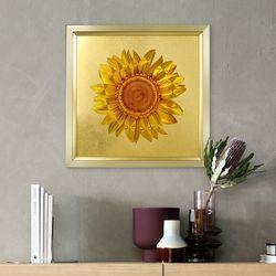 멀티글로벌 황금 해바라기 벽걸이 벽걸이 액자(중형)
