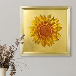 멀티글로벌 황금 해바라기 벽걸이 벽걸이 액자(대형)