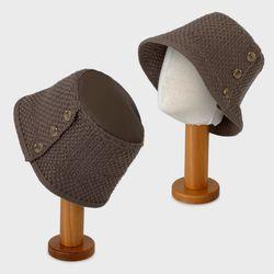 웜짜임 니트 버킷햇 벙거지 여성 겨울 플로피햇 모자