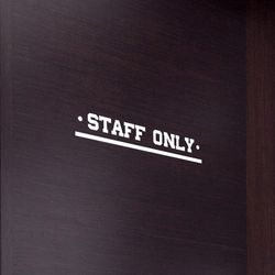STAFF ONLY  언더바 올드st 직원전용 안내 표시 가게스티커