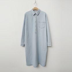 [무료배송] Lucas Denim Shirts Long Dress