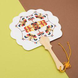 전통 부채 만들기 키트 ( 금묵으로 수놓는 꽃 부채 )