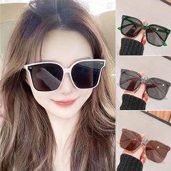 빅사이즈 사각 틴트 패션 선글라스 뿔테 자외선차단