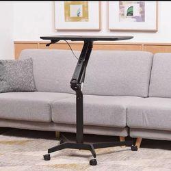 이동식 높이조절 테이블 이동 책상 소파 테이블