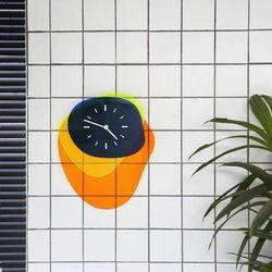 엔틱벽시계 빈티지 투명 아크릴 인테리어 시계