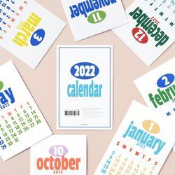 2022 레트로 캘린더 엽서 12P 세트
