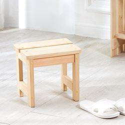 편백나무 원목 욕실 목욕의자