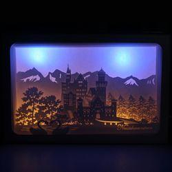 DIY 페이퍼커팅 LED무드등+매트 포함 - 백조의성