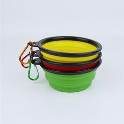 휴대용 폴딩 강아지 사료통 1개(색상랜덤)
