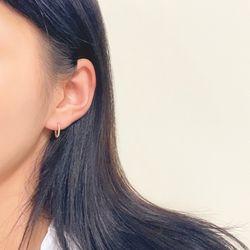 18k 귀걸이  버블 이어링 13mm