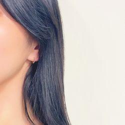 14k 귀걸이  버블 이어링 10mm
