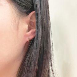 18k 귀걸이  버블 이어링 8mm