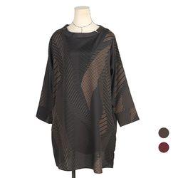 [네오쿠비카]빅사이즈 기하학 무늬 루즈핏 티셔츠 NCT-BLK350