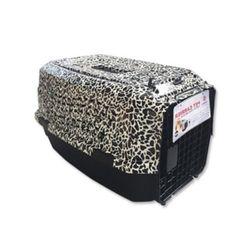 강아지컨넬 디럭스 탑프리 19 레오파드 강아지 이동가방