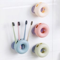 도넛 L흡착 칫솔꽂이 1개(색상랜덤)