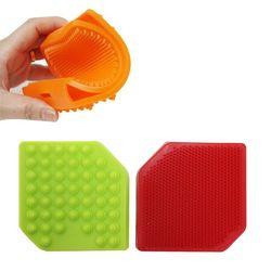 실리콘 양면 샤워솔 1개(색상랜덤)
